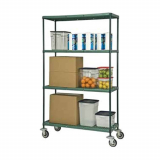 Louvered Slotted Shelving