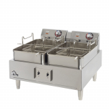 Split Pot Countertop Electric Fryer
