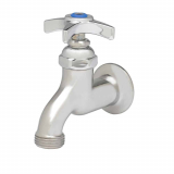 with Hose Threads Single Wall Mount Faucet