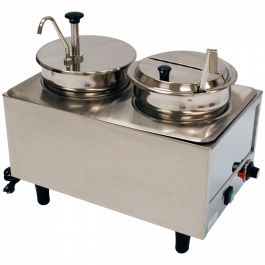 Winco Countertop Food Topping Warmer
