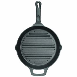 Winco Cast Iron Grill & Griddle Pan