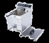 "Adcraft DF-12L - Countertop Deep Fryer, With Faucet, 11-1/2"" X 18"" X 16"""