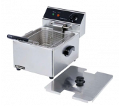 "Adcraft DF-6L - Countertop Deep Fryer, 11-3/4"" X 16"" X 11-1/4"", Single"