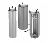 APW Wyott HL-10 - Lowerator® Heated Dish Dispenser, Tubular Drop-in Style, Single Self-elevating Dish Dispensing Tube