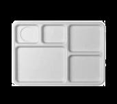 Cambro 10145CW133 - Camwear® Tray, 5-compartment, 10