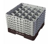 Cambro 20S1114167 - Camrack® Glass Rack, With (6) Soft Gray Extenders, Full Size