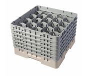 Cambro 20S1114184 - Camrack® Glass Rack, With (6) Soft Gray Extenders, Full Size