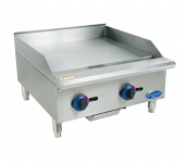 "Globe C24GG - Chefmate™ 24"" Gas Griddle, With Manual Controls, 3/4"" Polished Griddle Plate"