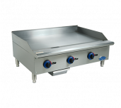 "Globe C36GG - Chefmate™ 36"" Gas Griddle, With Manual Controls, 3/4"" Polished Griddle Plate"