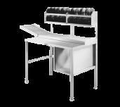 "Hobart HRT5-3 - Roller/Discharge Table, 36"" Long Work Area, 48"" Long 28"" High Adjustable Conveyor"