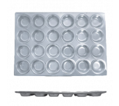 Thunder Group ALKMP024 - Muffin Pan, 24 Cup 3-1/2 Oz. Each Cup, 20-1/2