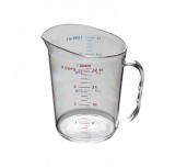 Thunder Group PLMC032CL - Measuring Cup, 1 Quart (1.0 Liter) Capacity, Printed With US/metric Measurements