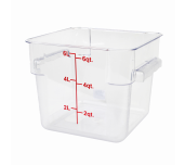 Thunder Group PLSFT006PC - Food Storage Container, 6 Quart, Square