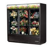 True Mfg. - General Foodservice GDM-69FC-HC-LD - Floral Merchandiser, Three-section