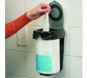 San Jamar WD1010BKSS - Kleen Keeper™ Wet Wipe Dispenser, 5-3/4