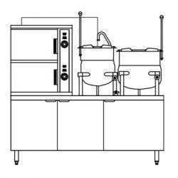 Gas Steamer Kettle Combination