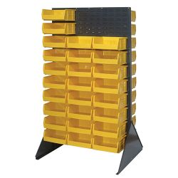 Louvered Slotted Shelving Unit