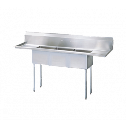 (3) Three Compartment Sink