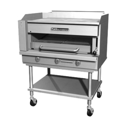 Countertop Gas Griddle on Overfire Broiler