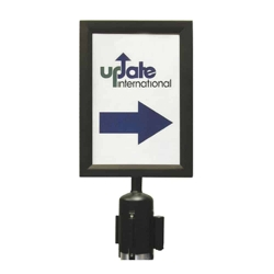 Crowd Control Stanchion Sign & Frame