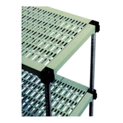 Plastic with Metal Post Shelving Unit