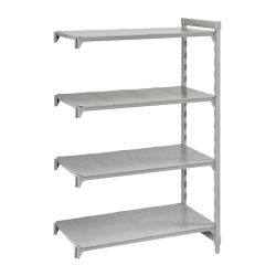 Plastic with Poly Exterior Steel Posts Shelving Unit
