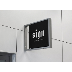 Wall-Mounted Sign